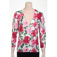 12gg Printed Rose Cardigan