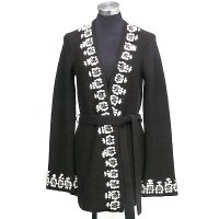 3gg long sleeves reverse jersey w/embroidery on front and cuff coat
